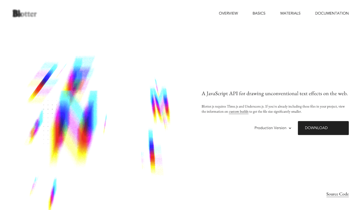 テキストにインパクトを与えるBlotter.jsをこれから多用しそうな予感